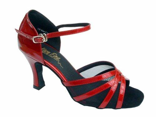 Ladies Latin Ballroom Classic 6027 Red Patent & BM 2.5'' (8M)
