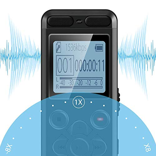 EVISTR 16gb Digital Voice Reorder Line in - Portable Recorders for Lectures Voice Activated Recording Device with Playback, Password, USB Rechargeable by EVISTR (Image #8)