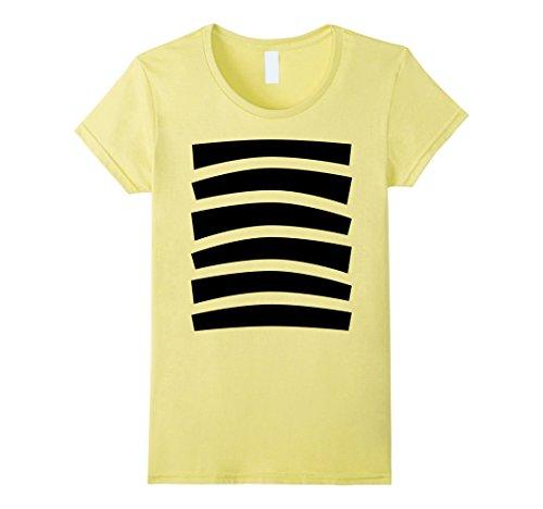 Womens Bee Halloween Costume Shirt Top Cute Honeybee Bumblebee Large Lemon (Bumble Bee T Shirt)