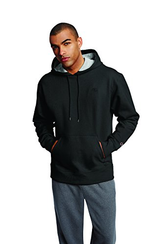 Dye Pouch - Champion Men's Powerblend Pullover Hoodie, Black, Medium