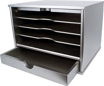 Victor Wood Desktop Organizer with Closing Door, 4720