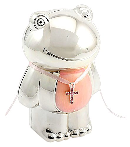 Lesser and Pavey - Little Treats Silver Plated Frog Money Box (Pink) LP23083