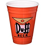 ICUP Simpsons Duff Double Wall Social Cup, Clear
