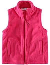 Boys Vest Fleece Solid Color