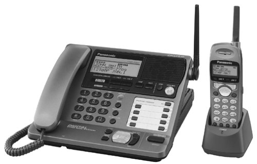 Panasonic KXTG2000B 2.4 GHz DSS 2-Line Cordless Phone with Caller ID and Voicemail