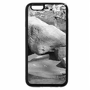iPhone 6S Case, iPhone 6 Case (Black & White) - Rock landscape