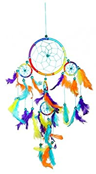 Dream Catcher arcobaleno, acchiappasogni in diverse misure Kunsthandwerk Lateinamerika