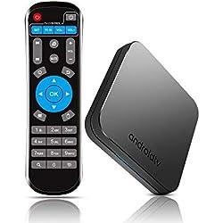 Smart TV Box con Amlogic S905X2 Quad-Core, 4GB RAM 32GB ROM, Soporte 2.4G/ 5G Dual Band WiFi 4K Full HD BT 4.0