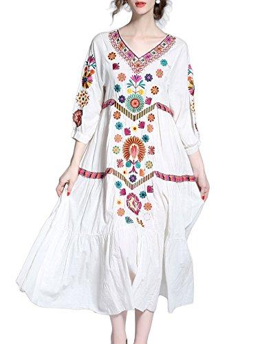 Print Cotton Maxi Dress - 8