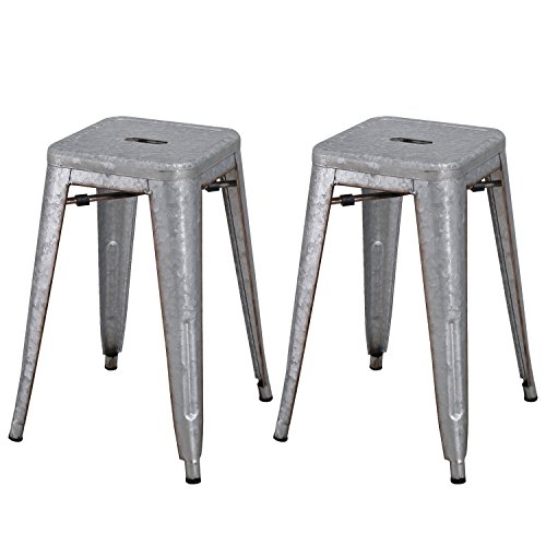 Merax Solid Metal Bar Dining Chairs Steel Back Chairs