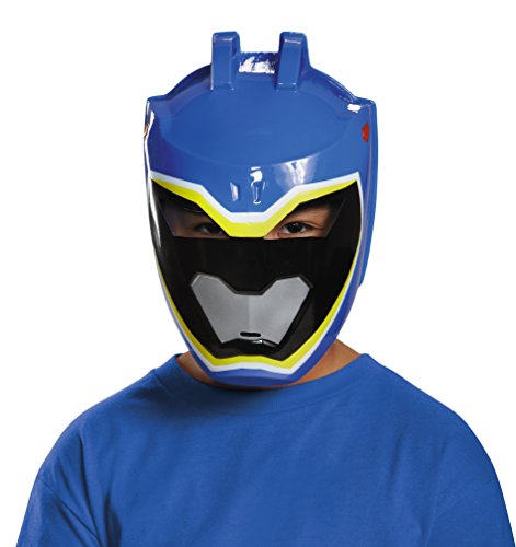 Disguise Blue Ranger Dino Charge Vacuform Mask Costume (Blue Power Ranger Costume)