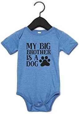 """LyCheer Baby-Strampler mit Aufschrift """"My Big Brother is a Dog"""