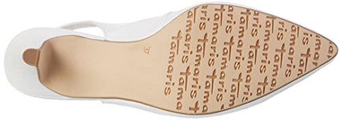 Sandales 36 Femme Blanc white Wei Bout Tamaris 100 29607 Ouvert Eu HpHwC