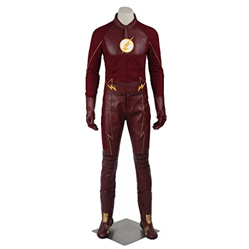 [CosplayDiy Men's Suit for The Flash Season 2 Barry Allen Cosplay M] (Make Your Own Halloween Costume With Clothes)