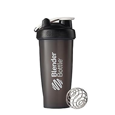 BlenderBottle Classic Loop Top Shaker Bottle, Black/Black, 28-Ounce Loop Top