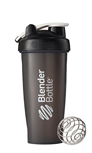 blenderbottle classic loop top shaker bottle  28-ounce  black  black