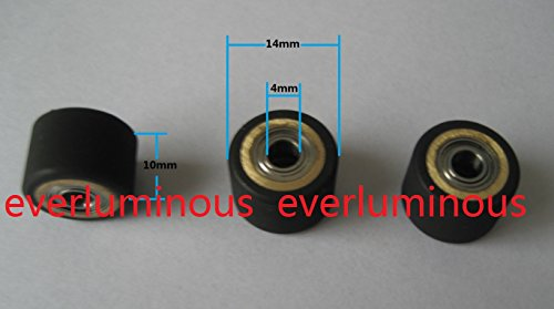 6pcs 4x10x14mm mimaki cutting plotter vinyl cutter pinch roller wheel Japan bearing+copper+rubber … by everluminous