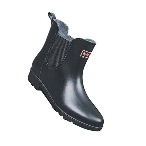 Boot Mujer Botas Botas de Casual Impermeable Agua Lluvia Negro Zapatos Shorty Muy de Xinwcang Ligera Antideslizante Ox1RqdR