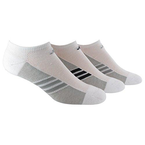 Climacool No Show Sock - adidas Women's Superlite No Show Socks (Pack of 3), White/Light Onix - White/Black/Light Onix - White/Light Onix, One Size