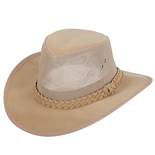 Dorfman Pacific Co. Men's Soaker Hat with Mesh Sides (Natural, Large/X-Large)]()