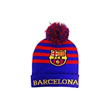 Barcelona Red Blue FIFA Soccer World Cup Toque Hat With Pom Pom .. New