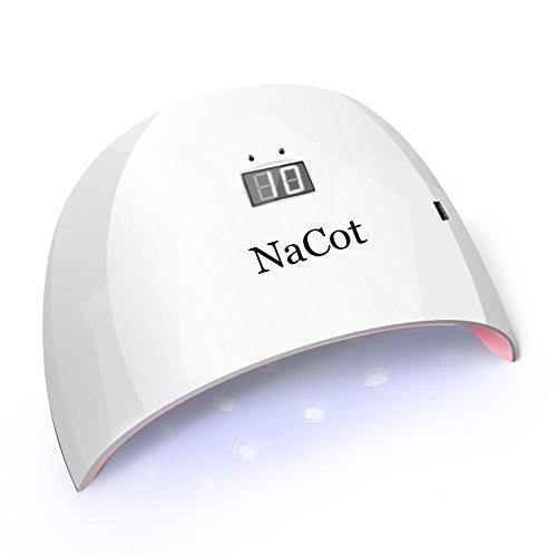LED UV Nail Dryer Lamp - NaCot Professional 24W Portable ...