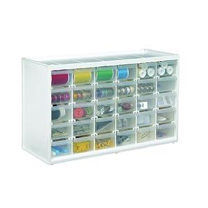 ArtBin Store-in-Drawer Cabinet; White Art Craft Storage, 6809PC