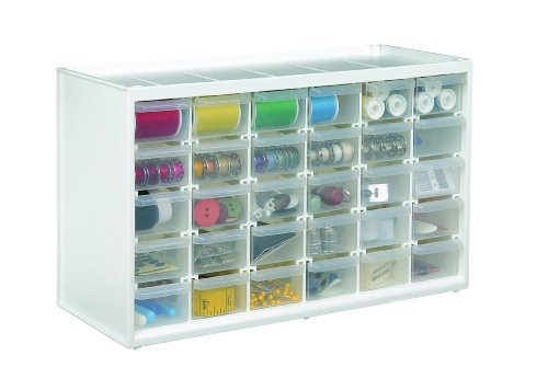ArtBin Store-in-Drawer Cabinet, White Art Craft Supply Storage, 6830PC