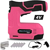 BHTOP Cordless Staple Gun, 4V Power Brad Nailer/Staple Nailer,Electric Staple with Rechargeable USB Charger, Staples and…