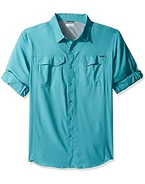 Men's Big-Tall Silver Ridge Lite Long Sleeve Shirt, Teal, 1X