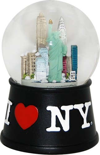 USA Company I Love New York Skyline Snow Globe