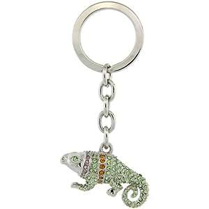 Amazon.com: Jeweled Iguana Key Chain, Key Ring, Key Holder
