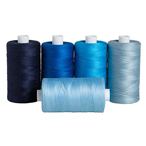 Connecting Threads 100% Cotton Thread Sets - 1200 Yard Spools (Ocean Voyage - Set of 5)