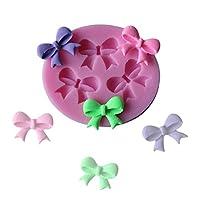 Cadeau Délicat et Idéal Cuisine DIY Moule Silicone Noeud Papillon Moule À Fleurs Sucre Pâte Fondant Gâteau Cookie Moule De Cuisson (Rose)
