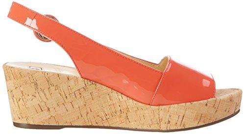 Högl 3-10 3204 8500, Sandalias con Cuña Mujer Naranja (Melone8500)