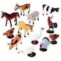 Vibgyor Vibes Farm Animals Figures Set - Medium (Pack of 12)
