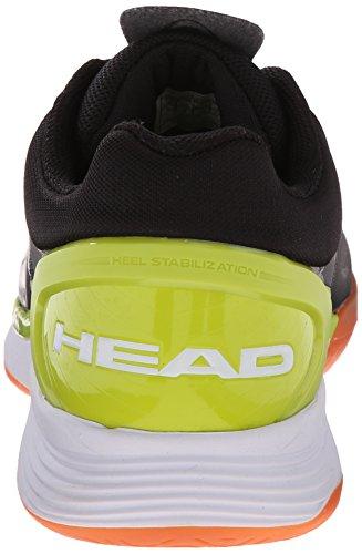HEAD Herren Sprint Pro Hallenschuh Schwarz / Lime