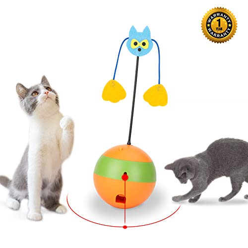 Mora Pets Cat Laser Toy Automatic Cat Toys Interactive Kitten Toy 3 in 1 Cat Toy Cats Ball Toy Interactive Cat Toys for…