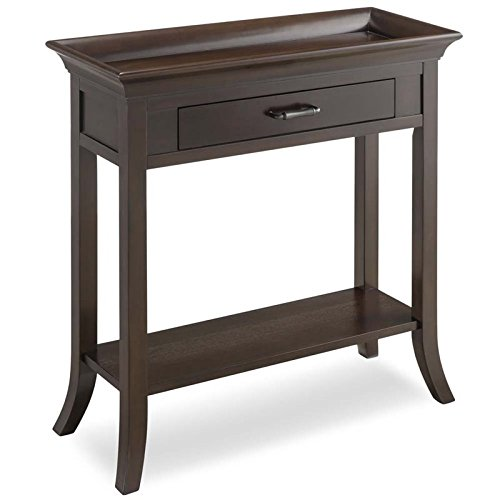 BOWERY HILL Tray Edge Console Table in Chocolate