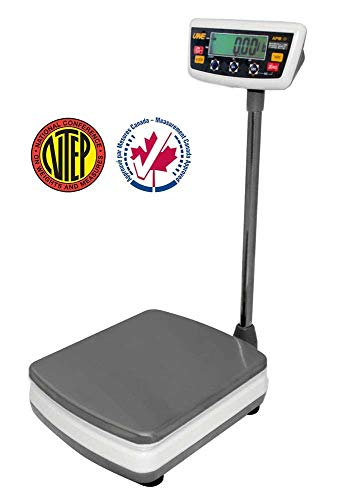 Intelligent APM-60 Portable Bench Shipping Scale, NTEP, Legal For Trade, 60 kg/ 150 lb by 0.02 kg/0.05 lb,Platform size 11