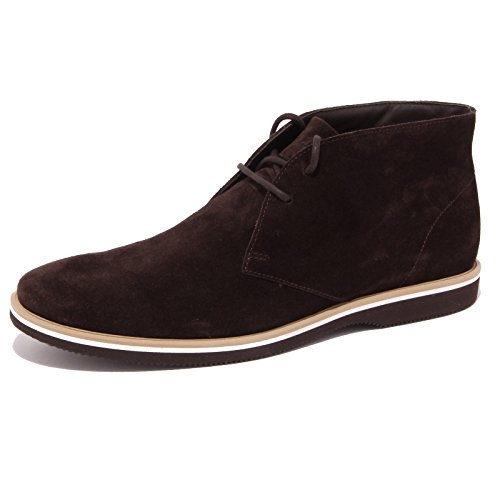 3861Q polacchino uomo HOGAN CLUB DERBY marrone scarpa suede dark brown men Marrone
