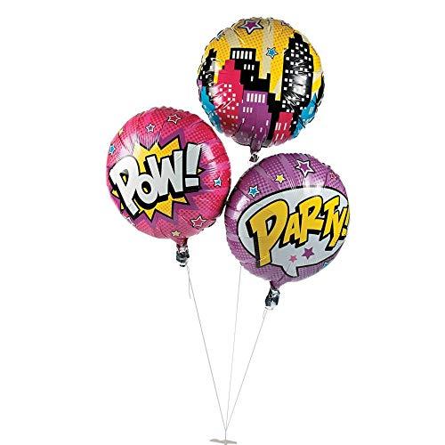 Superhero Girl Mylar Balloons Assorted. (3 pcs./set) Size: 18