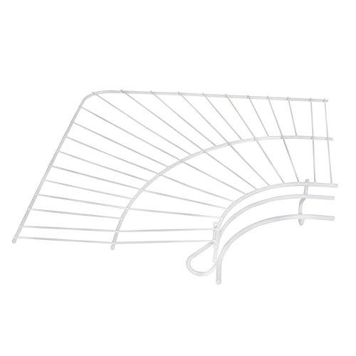 (Rubbermaid FreeSlide Wire Shelving, White, 12-inch Corner Kit (FG3J0800WHT))