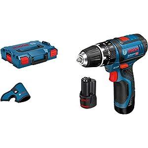 Bosch Professional 12V System GSB 12V-15 – Taladro percutor a batería (30 Nm, 1300 rpm, 2 baterías x 2.0 Ah, en L-BOXX) 41DSaQ24oOL