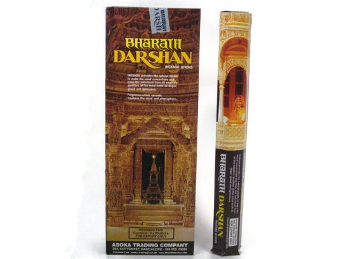 Price comparison product image Bharat Darshan Incense Sticks Handmade in India. Six Pack of 120 Sticks.