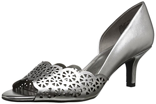 Bandolino Women's Eireen Synthetic D'Orsay Pump, Pewter, 8 M US