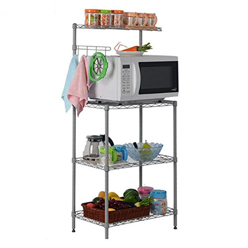 3 Tier Kitchen Baker's Rack Microwave Oven Stand Storage Cart Workstation - Eu Square Store