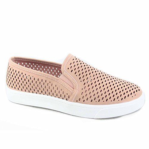 Soda Alpaca-s Women's Causal Slip On White Sole Round Toe Boat Sneaker Shoes (6 B(M) US, D-MAU)