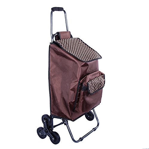 multipurpose-lightweight-wheeled-shopping-trolley-with-front-cooler-bag-rolling-push-shopping-trolle