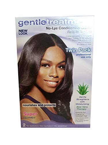 Gentle Treatment No-Lye Conditioning Creme Relaxer System For Coarse or Resistant Hair - Super